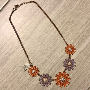 Peach and Purple Statement Necklace